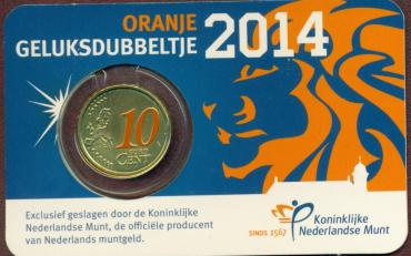 Netherlands,Lion, 2014 10 c in card
