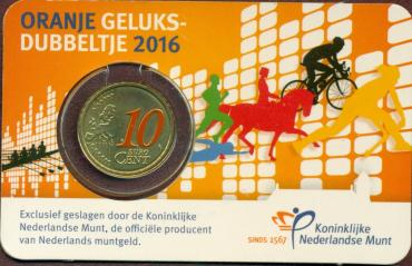 Netherlands, Sport, 2016, 10 c in card
