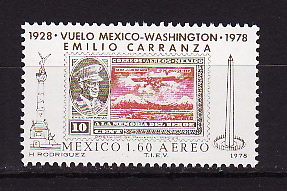 Mexico, 1978, 50 years of flight, 1v
