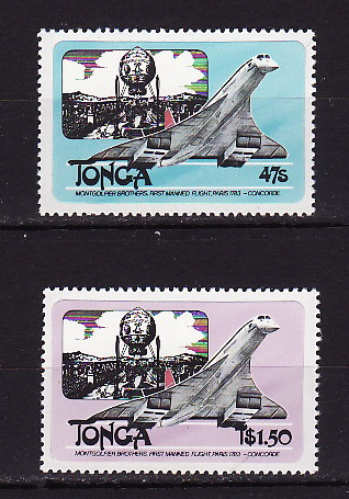 Tonga, 1983, Aviation, Aircraft, Concord, 2v