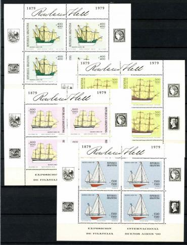 Argentina, 1979 Sailboats, 4 sheets