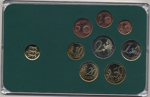 Estonia, Yearset  2011, Eurocoins +10c in box