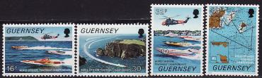 Guernsey, 1988, Powerboat Racing, 4v