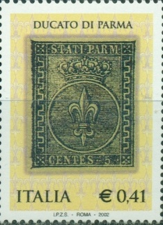 Italy, 2002, stamp of Parma, 1 v