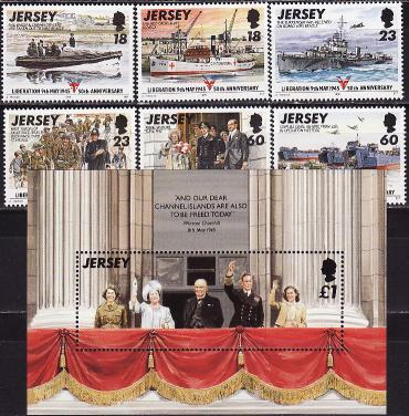 Jersey, 1995, 50 years of liberation, 6v, s\s