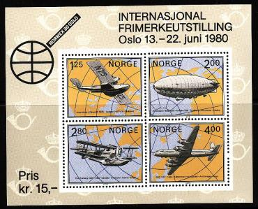 Norway, 1979, Exhibition NORWEX-1980, Aircraft, s\s