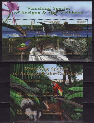 Antigua and Barbuda, 2001, Fauna, Birds, Reptiles, 2m\s