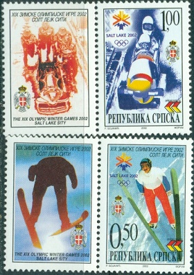 Resp. Serpska, Olympic 2002, 2 v with labels