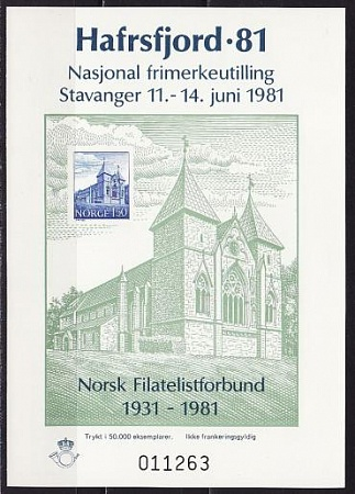 Norway, 1981, 50 years Federation philatelists s\s