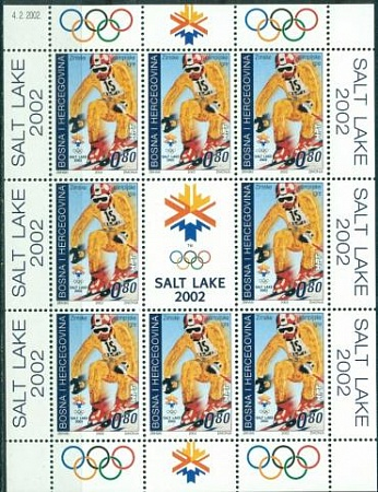 Bosnia (Mostar), Olympic 2002, sheet