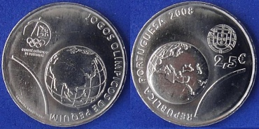 Portugal, 2 1\2 Euro, 2008, Olympic
