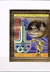 Central Africa, Olympic Games 1980, gold foil,s/s